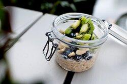 Healty ontbijt; overnight oats