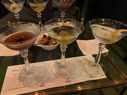 The flight of Martinis from the Stables Bar