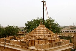 """Top most of the temple .....,seamless patterns, geographic & gematrical patterns combinations , everywhere seen superb carvings on sandstone, beautifully crafted sculptures and fantastic carved domes. The all side walls carry the intricate Jali or lattice work in stone in very large scale with different seamless patterns combination..... """"Amar Sagar Jain Temple"""" ,Jaisalmer, Rajasthan , India . It is located adjacent to the Amar Sagar Lake and south of Lodurva,"""