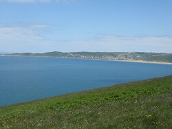 The view into Woolacombe Bay.