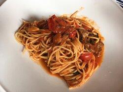 Spaghetti mit Kirschtomaten - Filetspitzen