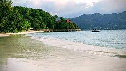 Strand mit Blick auf Präsidenten Villa