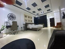 King Bed and Jacuzzi in-suite, Ample additional seating for guests