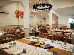 Kid's Table Setup in Persimmon Lane Function Room.