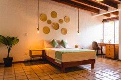 Habitación Superior Deluxe con cama matrimonial, Smart Tv y baño compartido