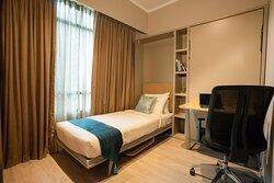 Two Bedroom (Refurbished) - Second Bedroom (Twin Murphy Beds with Desks)