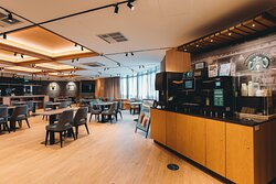 Starbucks Self-Served Kisoks @ The Lounge