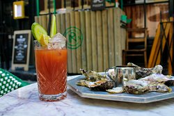 Join us for brunch every Saturday from 12pm till 4pm. With dishes including Bloody Mary oysters. Bottomless Bloody Mary's or sparkling wine are on offer for £38 per person.