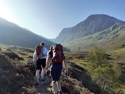 Walking into Ben Nevis's north face