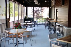 Our patio is great rain or shine!