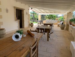 Large veranda always with a nice breeze, internet access. Breakfast served here.