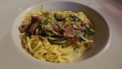 Tagliolini - Verdure con Pancetta.