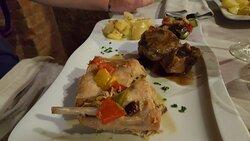 Coniglio - Patate al Forno.