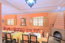 Dining at Hotel Ghazal in Imlil, Morocco