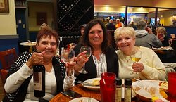 A toast to good food and good friends!