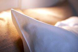 Stemningsbillede af vores lækre sengetøj