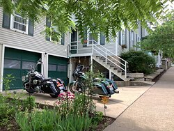Off street motorcycle parking available at the Avery