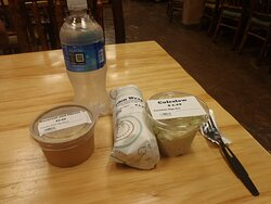 lunch including an Eden wrap and mac and cheese