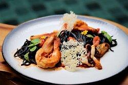 The Tram Restaurant, Pattaya: Spaghetti with Seafood