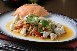 The Tram Restaurant, Pattaya : Stir-Fried Crab Meat with Curry Powder