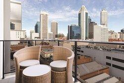 adina apartment hotel perth barrack plaza balcony view