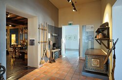 The first part of the Ethnology Collections is a smoke kitchen, which contains various items used for cooking and baking back in the day.