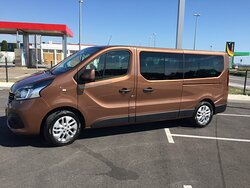 Our Renault Trafic Minivan for up to 8 persons + luggage