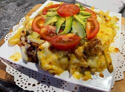 Grotto Famous Nacho's. A different take on your everyday Nacho's