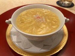 蟹肉入りコーンスープ