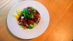 Salade met biestuk