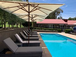 Outdoor solar heated swimming pool (heated October to April)