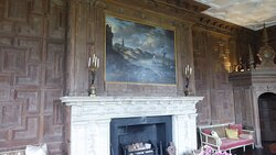 Unusual wooden wall panelling