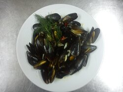 Mussel with sour sauce and spices!!!