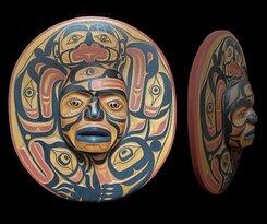 Moon Communicator Mask by Mervyn Child, Kwakwaka'wakw