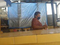 owner and cook El Paso restaurant main street colonia Puerto Morelos Yucutan Mexico
