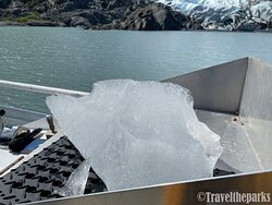 Ice Chunk from the Glacier-Tasty!!
