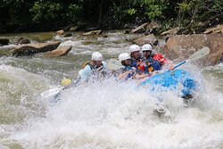 Going into a large rapid