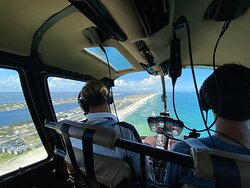 Flying along Gulf Shores