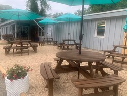 Dine at our casual Eatery or in our covered porch.