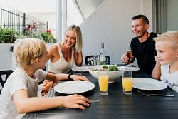 Alfresco dining in our Poolside Penthouses with your own personal BBQ