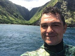 """Frank DeYoung - Captain and Instructor Extraordinaire for Aquatic Life Divers - in """"the Valleys"""""""