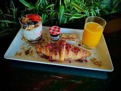 Rose Croissant Breakfast