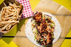 Taste our lighter choice, have the chicken burger in a wrap.