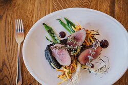 New Zealand venison is one of your menu selections