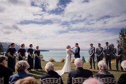 Wedding ceremony on the Weddgin Lawn