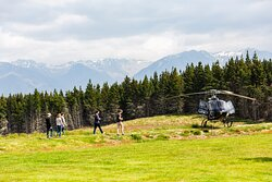 One of 5 helipads that take you to Moraine Lodge and the Retreat