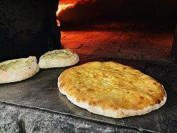 One of the most popular Georgian cheese pie - Imeruli
