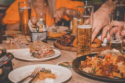 Dine with your friends and enjoy the live sports on big screens