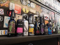 Cans on display