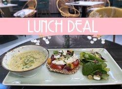 Lekkere combinaties. Probeer onze lunchdeal!